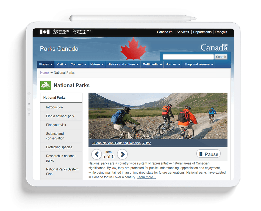 Parks Canada Devices